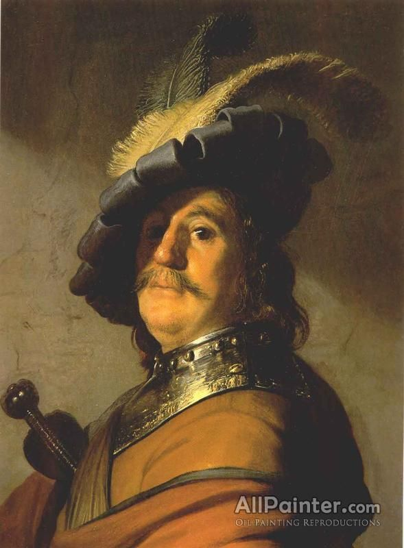 Rembrandt Van Rijn Bust With A Gorge And Plumed Hat oil painting reproductions for sale