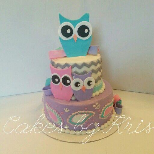 Adorable owl cake! !