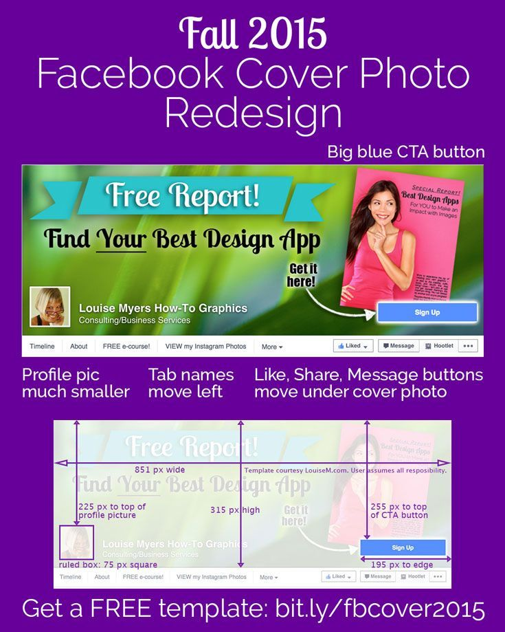 facebook cover photo 2015 template it changed again pinterest