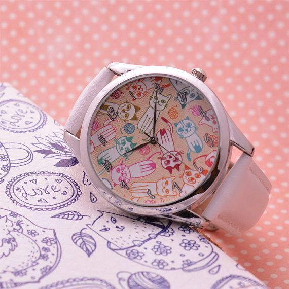 Sister Gift Cat Watch Cute Gifts Women Birthdaygifts