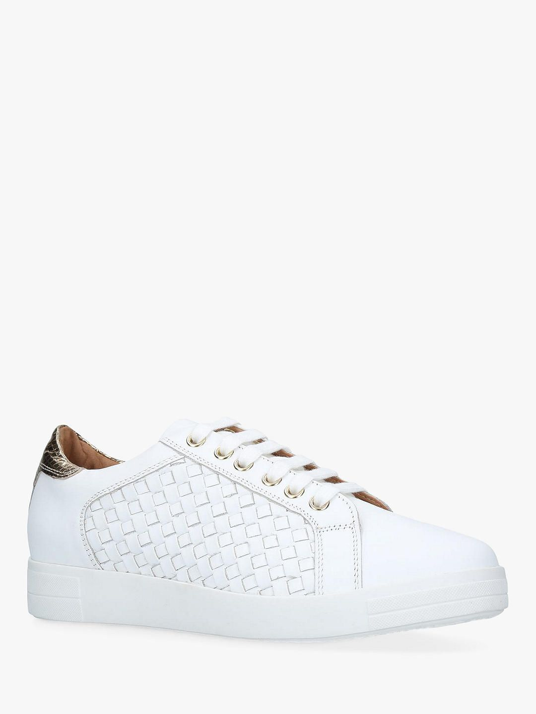 c9ece079319 Carvela Judge Leather Trainers, White in 2019 | Clothes 2019 ...