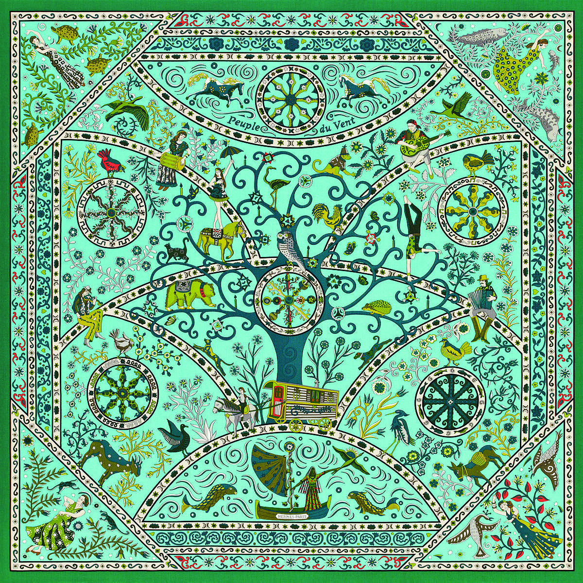 Christine Henry - Peuple du Vent, Hermes shawl   Scarf-a-holic anon ... e8731ca7ffa