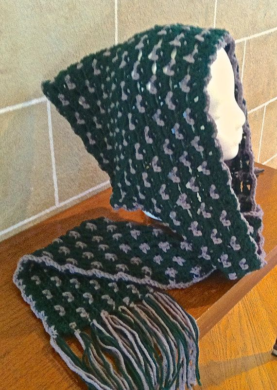 Hooded Scarf Crochet Warm Winter Slouchy by SkeinsOfAnarchy | Skeins ...