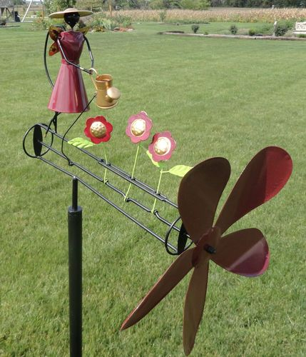 Garden Angel Whirligig Wind Spinner Yard Decor Metal Art Outdoor Decoration Ebay