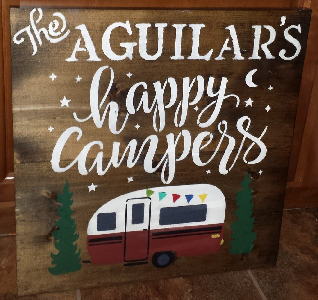 Wooden Signs For Campers