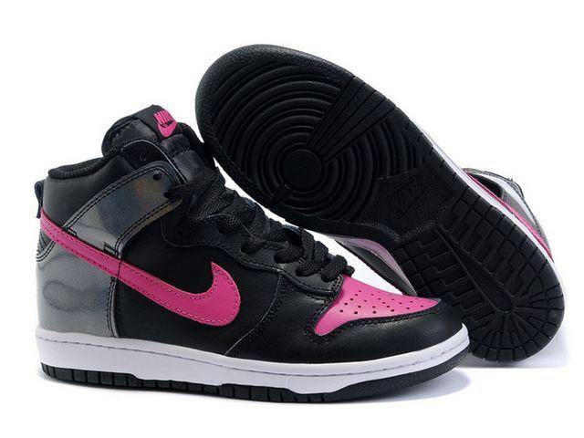 buy popular ef595 77679 Chaussures Nike Dunk High Noir Blanc Rose nike11837 - €63.89  Nike  Chaussure Pas Cher,Nike Blazer and Timerland ...