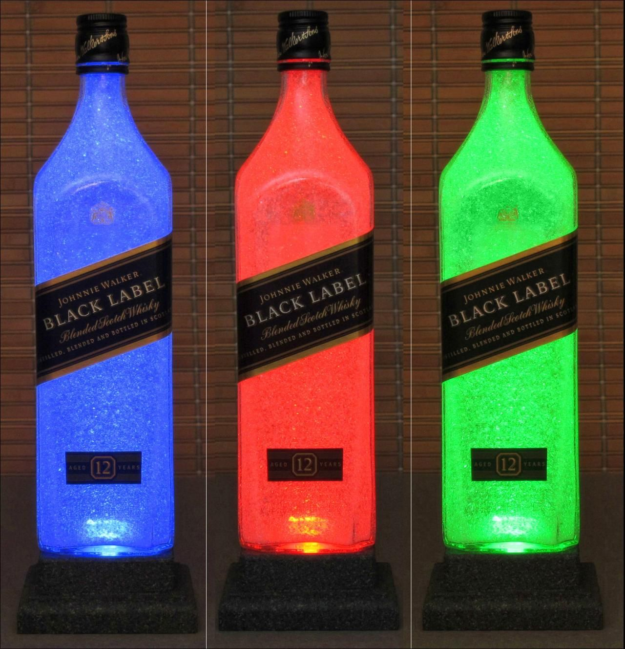Johnnie Walker Black Label Whiskey Color Changing Led Remote Control Bottle Lamp Light Bodacious Bottles Johnnie Walker Black Label Johnnie Walker Black Johnnie Walker