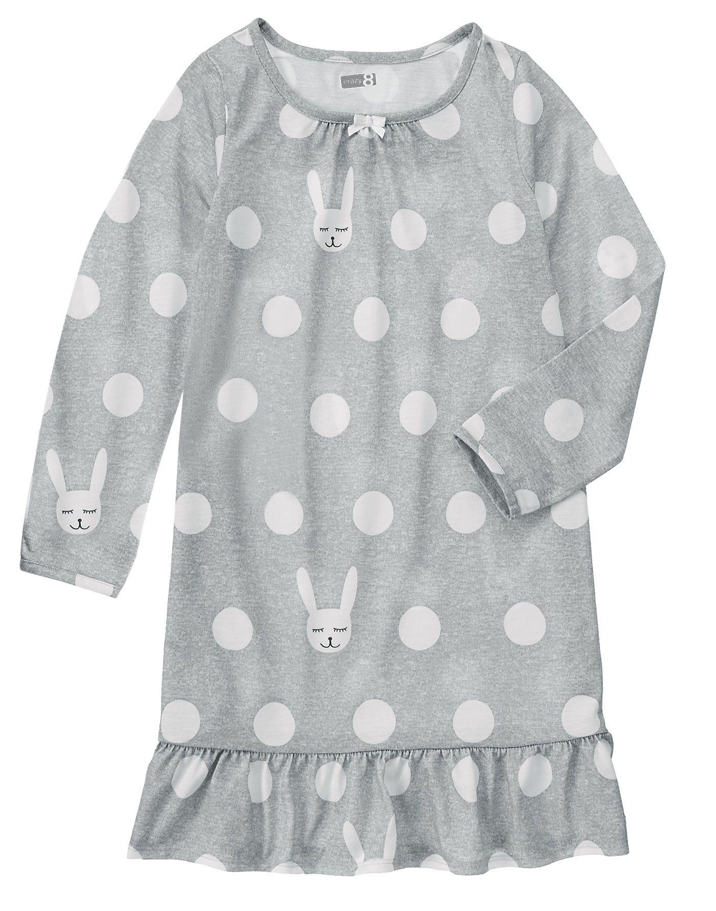 Bunny Print Pajama Gown at Crazy 8