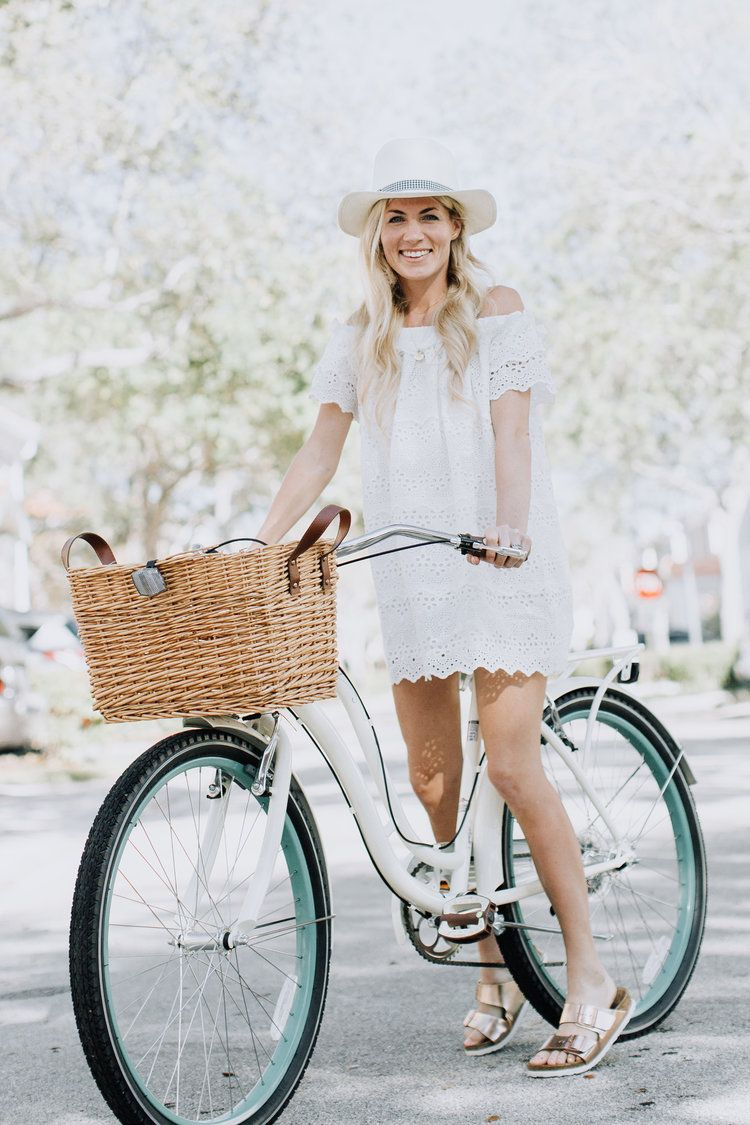off the shoulder eyelet dress and Pure Joy Home Hat, xoxo
