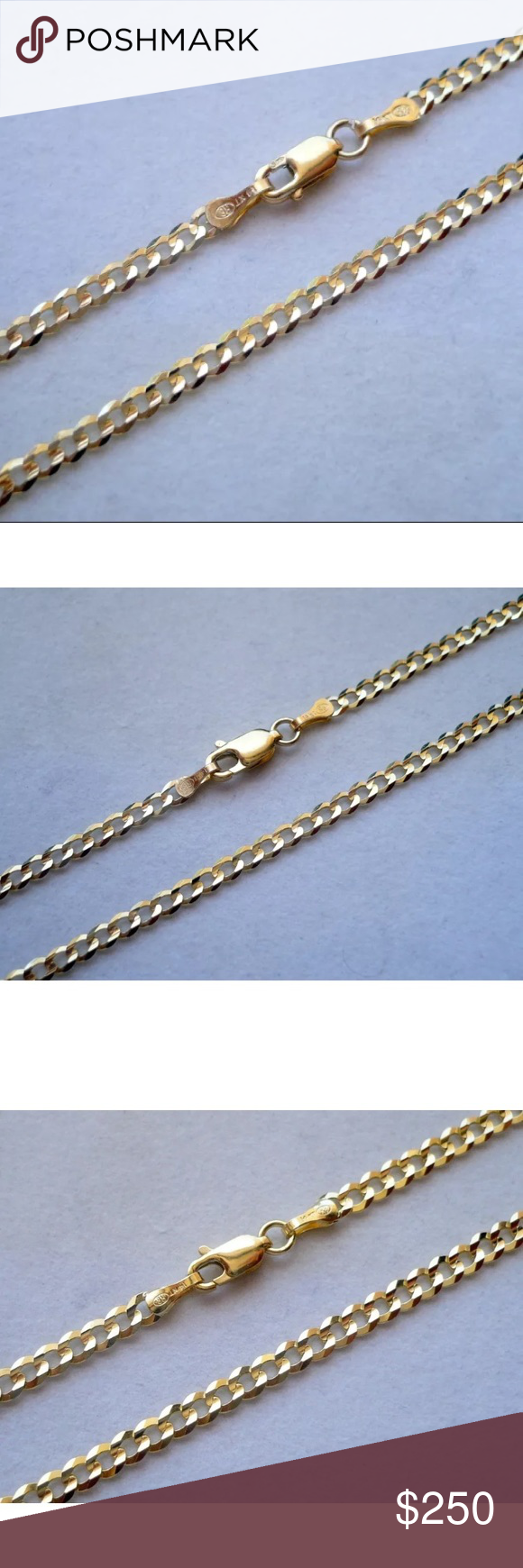 10k Solid Gold 3 5mm Cuban Link Chain 20 Cuban Link Chain Gold Cuban Link Chain Solid Gold