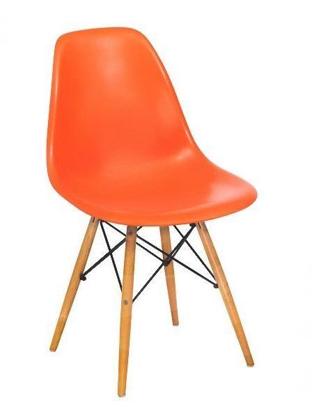 Lot De 4 Chaises Charles EAMES DSW Orange + Port
