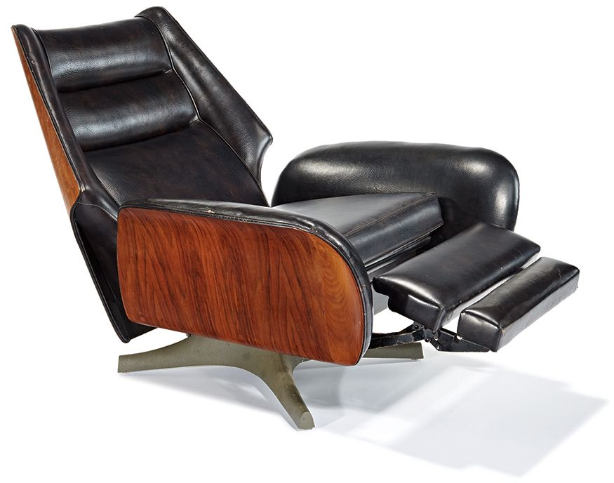 Raymond Loewy Barca Lounger Chair Designed C 1966 Fauteuil
