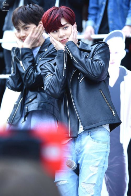 160416 UP10TION Music Core Mini Fanmeeting WooshinCr:   My Dear,WOOSHIN  Do not edit