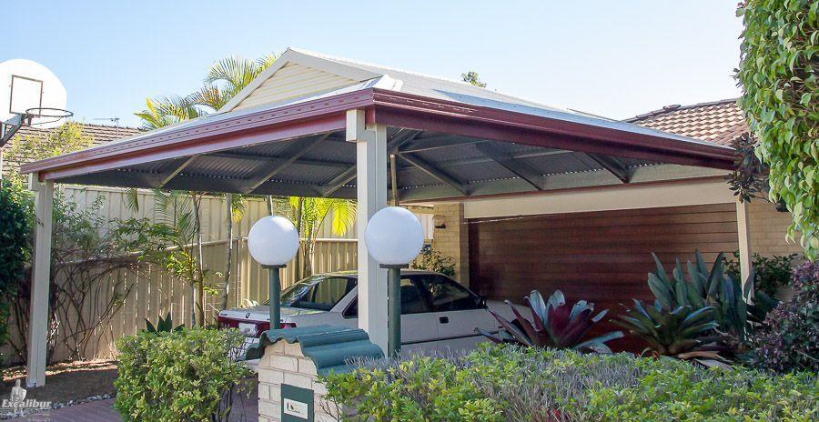 Double Carport Kit With Dutch Gable Roof Pergola Plans Design Patio Roof House Front Porch