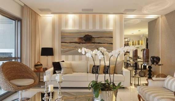 Salas modernas com papel de parede veja dicas e modelos for Modelos de salas modernas