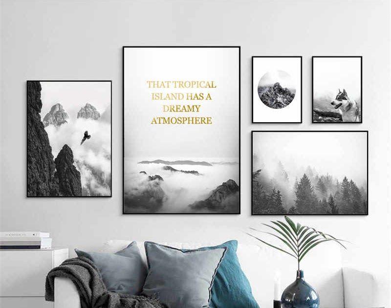 30 Foto Pemandangan Alam Hitam Putih Di 2020 Pemandangan Seni Dinding Seni Buku