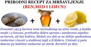 recept za mrsavljenje ren limun i med