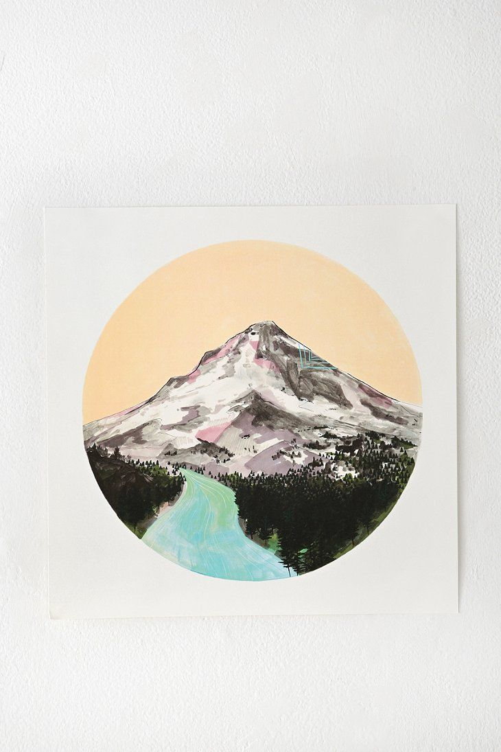 cathy mcmurray mountain print art illustration art art on walls insulated coveralls on sale id=58514