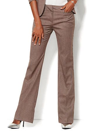 36d90111ff Shop 7th Avenue Design Studio Pant - Signature Fit - Bootcut - Tweed -  Petite. Find your perfect size online at the best price at New York &  Company.