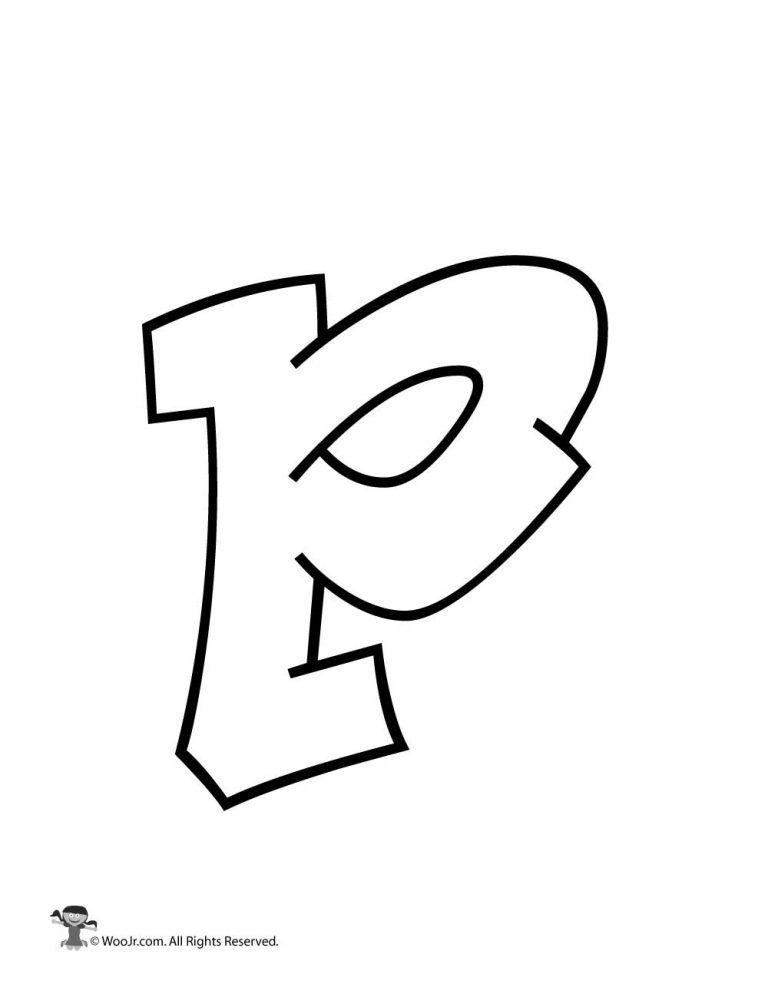 Graffiti Lowercase Letter P Woo Jr Kids Activities Lettering Alphabet Graffiti Lettering Alphabet Graffiti Letters Styles