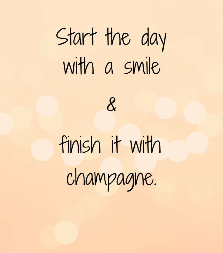 #CFLloves to START THE DAY WITH A SMILE & FINISH IT WITH CHAMPAGNE!!! What about you #LuxuryLadies?