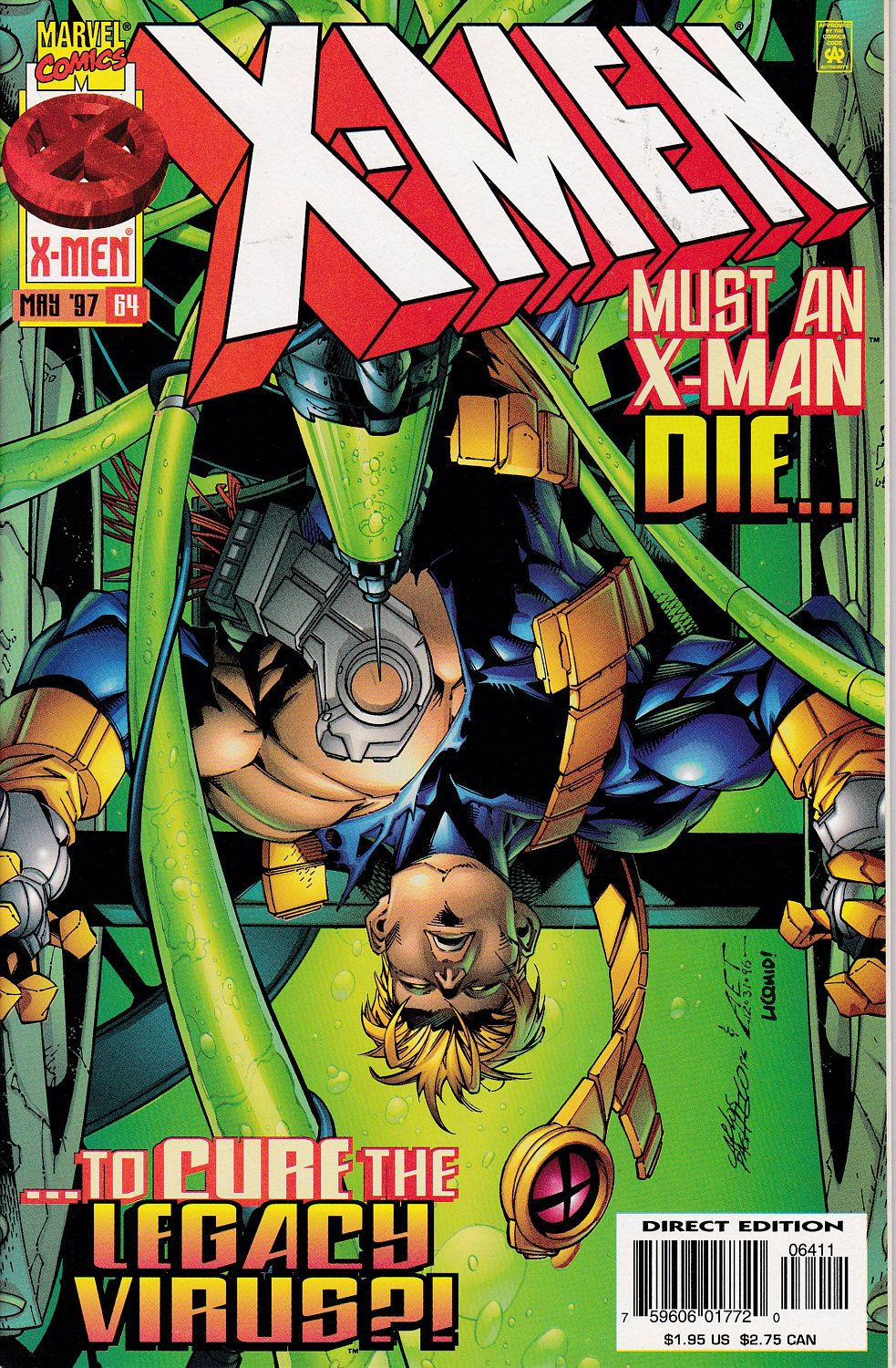 X Men 64 May 1997 Marvel Comics Grade Nm Etsy X Men Comics Xmen Comics