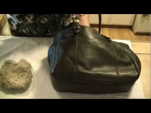 how to clean a coach leather bag restore shine protect. Black Bedroom Furniture Sets. Home Design Ideas
