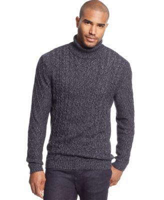 Tasso Elba Chunky Turtleneck Sweater Only At Macys Sweater