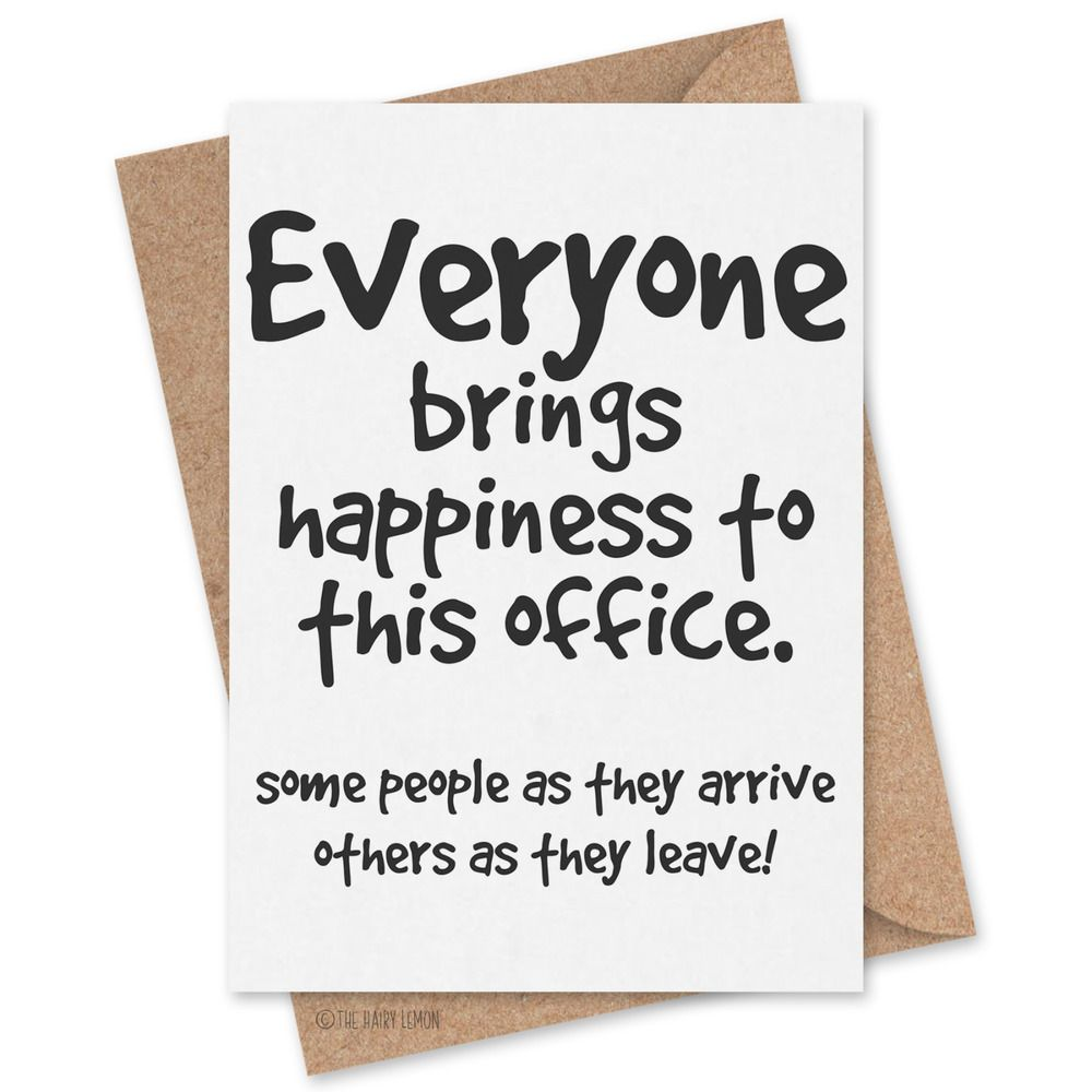 Card 0003 new job leaving work banter office