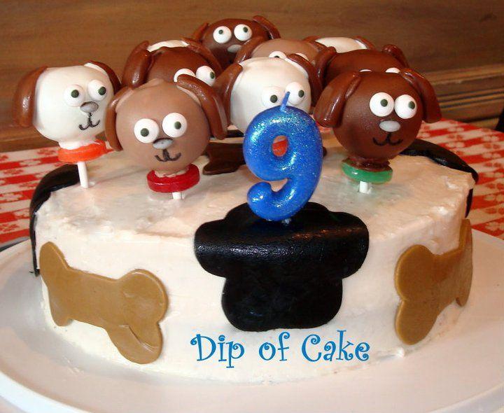 Dog pops cake cake pops desserts