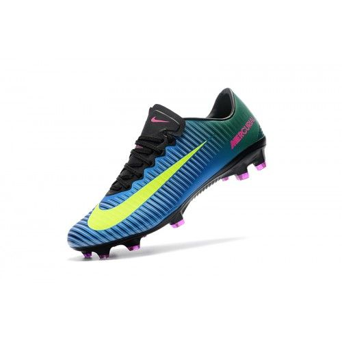 uk availability e30b6 aacd2 Salg Nike Mercurial Fodboldstøvler - Billig Nike Mercurial Vapor XI FG  Herre Bla Gron Sort Fodboldstovler