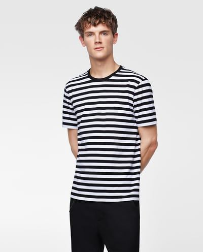 a05265fc Image 2 of BASIC STRIPED T-SHIRT from Zara | T-Shirts | Shirts, T ...