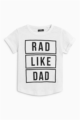 d39cd7f58 Buy White Rad Like Dad Short Sleeve T-Shirt (3mths-6yrs) from the Next UK  online shop