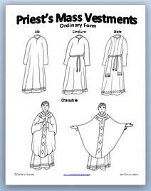 Deacon Bishop Priest Coloring Page Thecatholickid Com