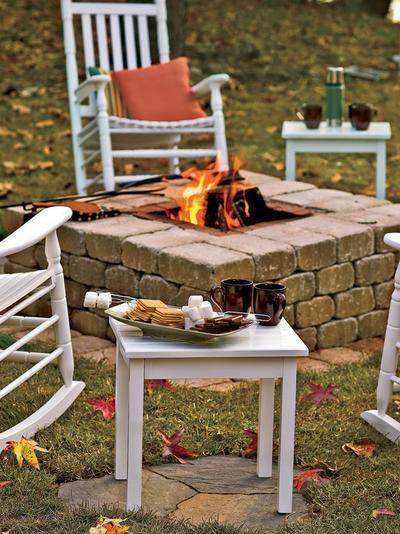 Feuerstelle aus alten Ziegeln selber machen Garten Pinterest - feuerstelle selber machen