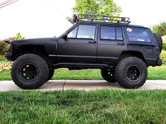 B2 Xj A Matte Black Jeep Cherokee Jeep Xj Jeep Black Jeep
