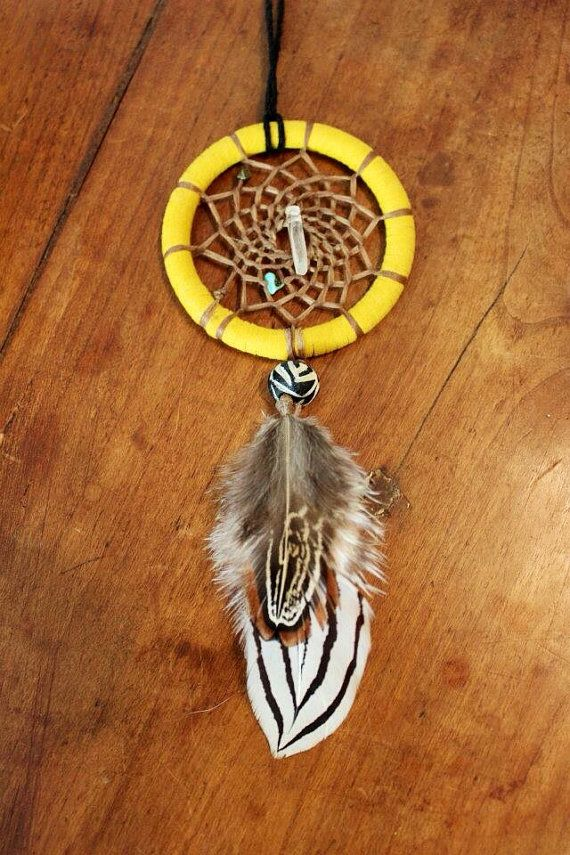 YellowTurquoiseCrystal Quartz Point by LunaSageDesigns on Etsy