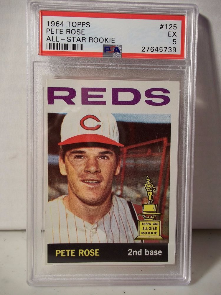 1964 Topps Pete Rose PSA EX5 Baseball Card 125 MLB