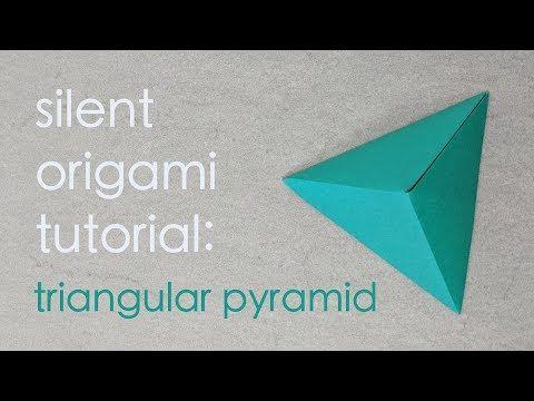 Photo of Silent Origami Tutorial: Triangular Pyramid