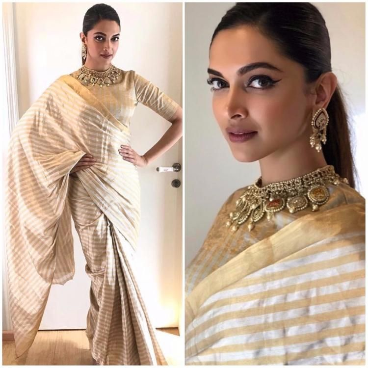 Image result for deepika padukone saree look