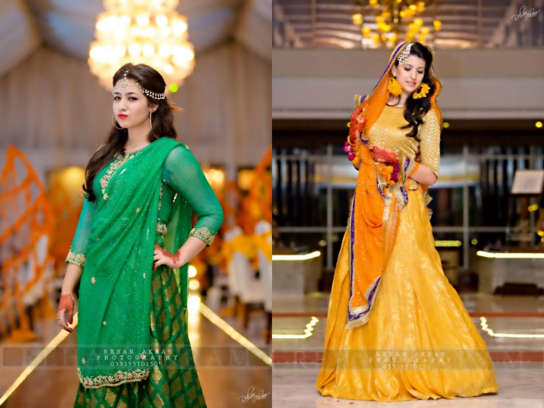 Mehndi Clothes For Brides : Photography by rehan akram mehndi mayoo'n bridal dress