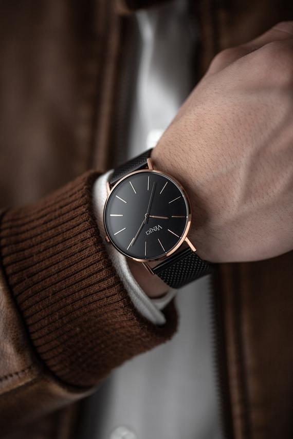 Minimalist Men's Rose Gold Mercury | Wrist Watch (