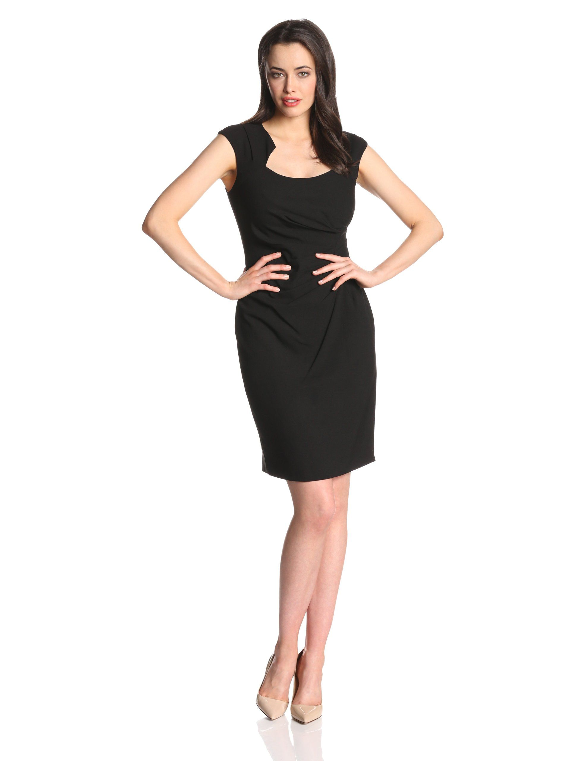 7a838f1a5386 Calvin Klein Women s Cap-Sleeve Side-Ruched Sheath Dress at Amazon Women s  Clothing store