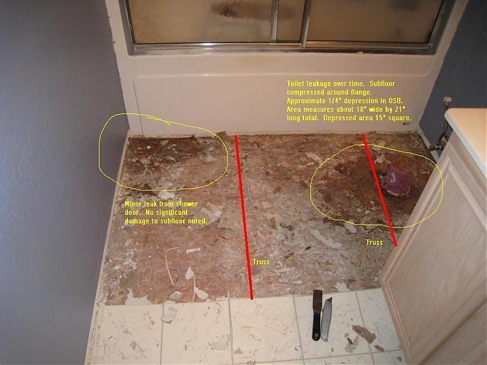 Repairing Bathroom Subfloor Terry Love Plumbing Remodel Diy