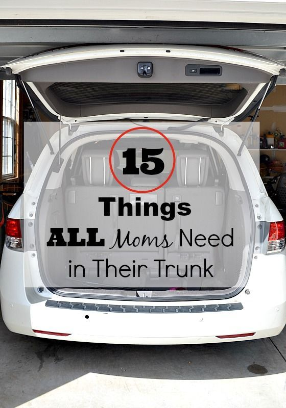 Moms, you should keep all these things in your car ...