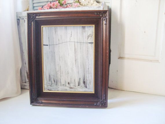 Antique Ornate Heart White Picture Frame Distressed Vintage Wedding Gift