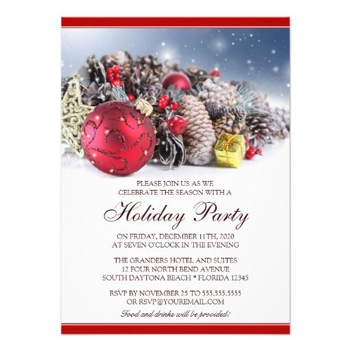Christmas Invitations | Festive Holiday Party | Pinterest