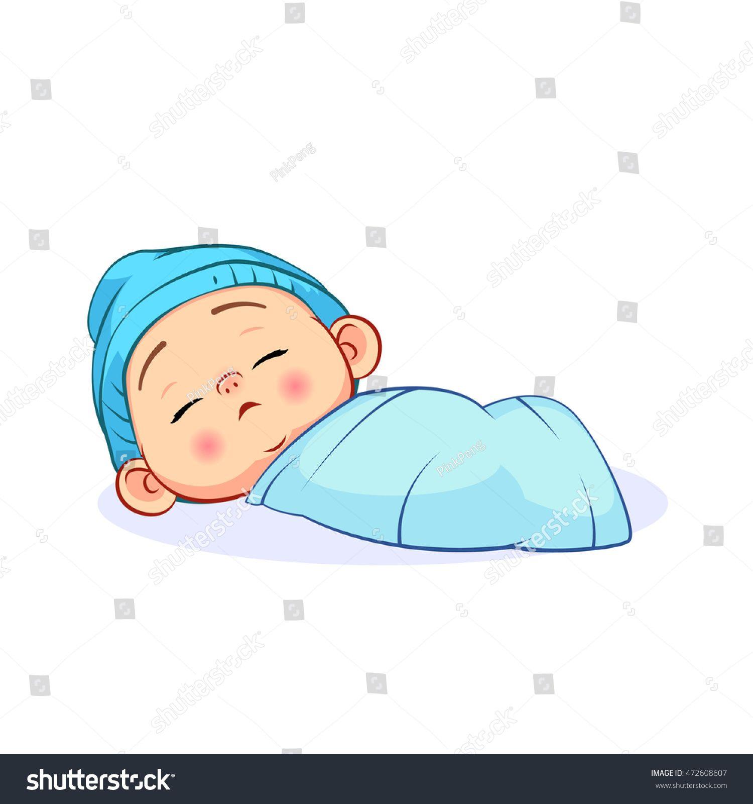 Newborn Sleeping On Light Background Real Life Lifestyle Stock Caricatura De Bebe Diseno De Personajes Ilustraciones