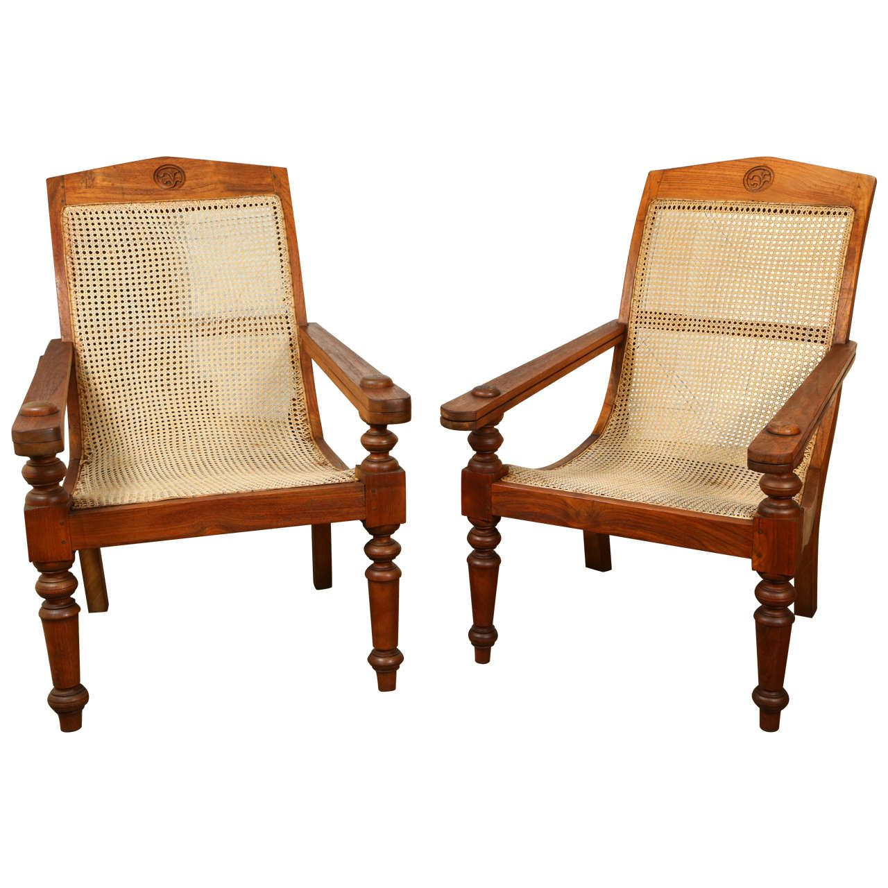 Anglo-Indian Plantation Chairs - Anglo-Indian Plantation Chairs Modern Lounge, Lounge Chairs And