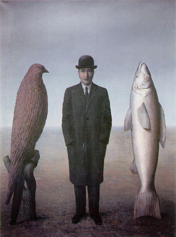 L'uomo, L'uccello, Il Pesce René Magritte | Rene magritte, Magritte,  Magritte paintings